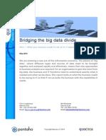 Bridging the big data divide