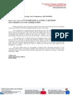 PR_May 15, 2014_BM Condemns CH Incursion in PH Territory