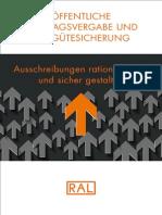 Öffentliche Auftragsvergabe und RAL Gütesicherung – Ausschreibungen rationalisieren und sicher gestalten