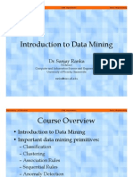Introduction to Data Mining - Dr Sanjay Ranka