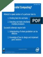 Intel Slides on Parallelism