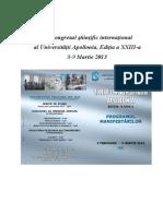 Congresul ştiinţific internaţional2013