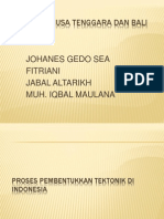 Tektonik Bali, NTT, Dan NTB