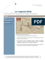 Cultivating your Judgement Skills