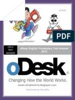 ODesk English Vocabulary Test Answer 2012