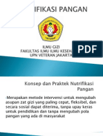 Konsep Dan Praktek Nutrifikasi Pangan