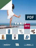 Tarif2010 TA Equilibrage Vannes