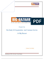 title page of  Report on Big bazaar, OMR, Bangalore
