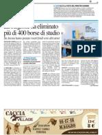 La Regione ha eliminato più di 400 borse di studio - Il Resto del Carlino del 15 maggio 2014
