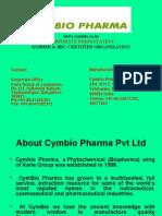 Corporate Presentation of Cymbio Pharama