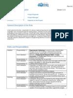 Detailed Job Description Project Engineer