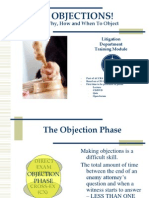 TrainingTraining Module Objection (17 April-08 Module Objection (17 April-08)-Legal Advantage