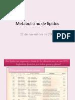 clase Metabolismo de lípidos