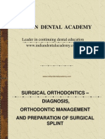 Surgical Orthodontics Diagnosis / orthodontic courses by Indian dental academy