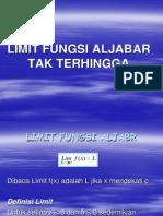 7. Limit Fungsi Tak Hingga (Jumat, 29 November 2013)