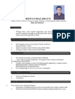 CV for It Job Riz Cv With Pic