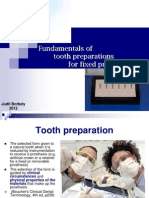 Fundamentals of Tooth Preparation Periodontal Aspects