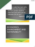 Economics, Environment, And Sustainability