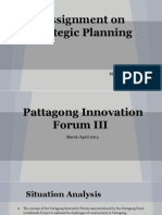 Strategic Planning - Pattagong