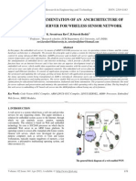Design and Implementation of an Ancrchitecture of Embedded Web Server for Wireless Sensor Network