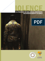 VIOLENCE BASED ON PERCEIVED OR REAL SEXUAL ORIENTATION  AND GENDER IDENTITY IN AFRICA REPORT