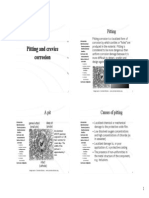Pitting & Crevice Corrosion