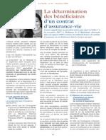 La Détermination Des Bénéficiaires d'Un Contrat d'Assurance-Vie (Avec Me Granier-Zarrabi, Octobre 2008)