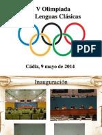 V Olimpiada de Lenguas Clásicas1