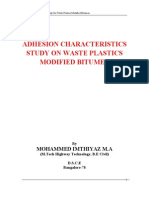 Waste Plastic Modified Bitumin