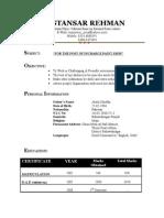 Mustansar CV