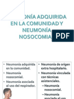 Neumonía Adquirida en La Comunidad y Neumonía Nosocomial