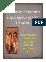 Il Fidanzamento e Il Matrimonio in Epoca Romana e Nel Nostro Ordinamento