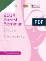 CoR 2014 Breast Seminar Second Announcement