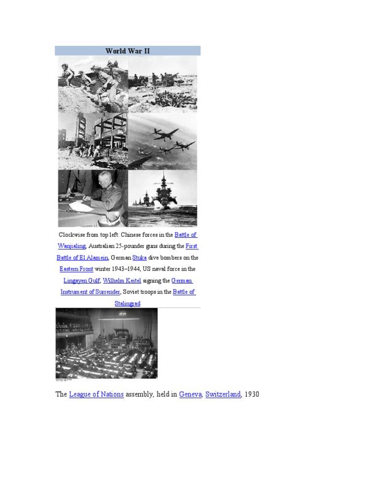World War 2 Battles And Operations