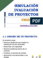 Formulacion de Proyectos UNIDAD I