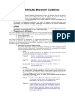 Requirements Attributes Document Guidelines