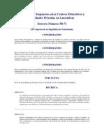 Decreto 58-71 Exencion de Colegios y Entidades Privadas No Lucrativas