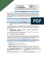 Pro-gc-001 Elaboracion y Control de Documentos