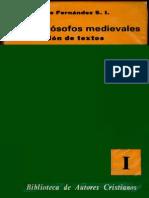 Los Filosofos Medievales - Clemente Fernandez S. I