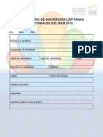 Formulario Capitanas Nacionales Del Mar 2014