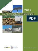 Balance Energetico 2012