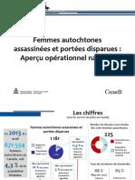 Document de la GRC  - Femmes autochtones  assassinées et portées disparues: Aperçu opérationnel national
