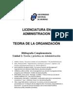 Bibliografia Complementaria Unidad 1 Teoria de La Administracion