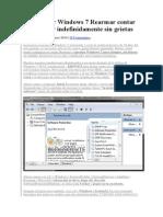 Restablecer Windows 7 Rearmar Contar y Funcionar Indefinidamente Sin Grietas