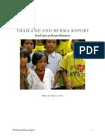 thailand  burma report
