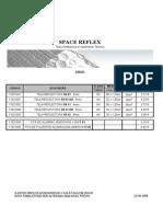 7.2 - Telas Reflectoras - Space Reflex