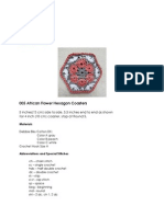 005 Free African Flower Hexagon Coasters