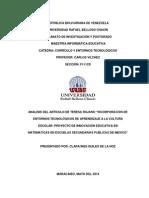 Analisis Articulo Incorporacion Entornos