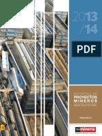 Muestra Catastro Proyectos Mineros 2013-14