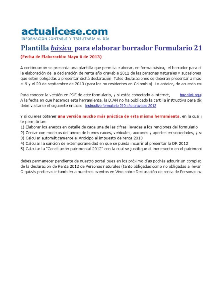 Contemporáneo Plantilla De Declaración Contable Adorno - Ejemplo De ...